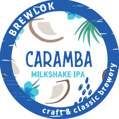 Светлое пиво Caramba Milkshake IPA Brewlok (банка) в Воронеже логотип